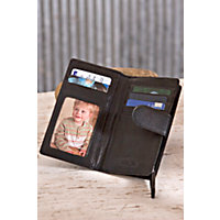 Card Case Leather Clutch Wallet, Black Western & Country