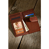 Card Case Leather Clutch Wallet, Brandy Western & Country