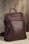 Women's Large Organizer Leather Backpack Handbag