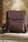 Women's Cross-Body Leather Organizer Handbag