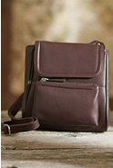 Women's Emily Crossbody Leather Organizer Handbag