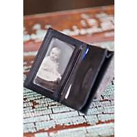 Gusseted Leather Card Case, Black Western & Country