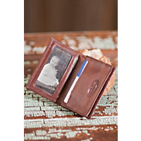 Gusseted Leather Card Case, Chocolate Western & Country