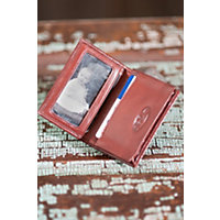 Gusseted Leather Card Case, Whiskey Western & Country