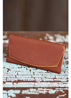 Cowhide Leather Clutch Wallet