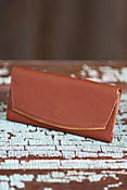 Commuter Cowhide Leather Clutch Wallet