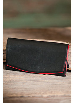 Women's Accordion Clutch Leather Wallet