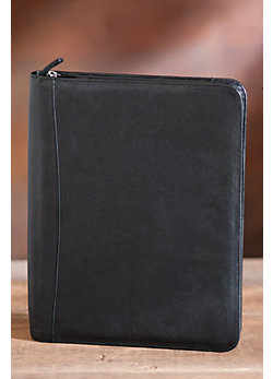 Zip File Leather Folio