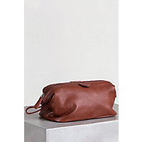 Men's Facile Top Leather Travel Kit, Brandy Western & Country