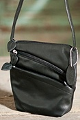 Women's Iris Triple-Zip Leather Handbag