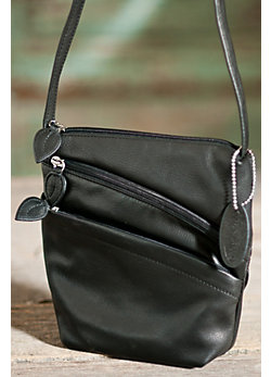 Iris Triple-Zip Leather Handbag