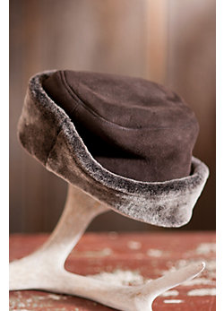 Shearling Sheepskin Sailor Hat