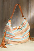 Fritch Serape and Deerskin Leather Tote Bag