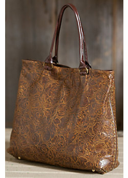 Rosal Soft Leather Tote Bag