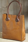 Women's Vachetta Two-Handled Leather Tote Bag