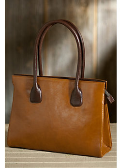 Women's Vachetta Zip Leather Tote Bag