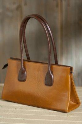 Vachetta Small Zip Leather Tote Bag