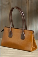 Women's Vachetta Small Zip Leather Tote Bag