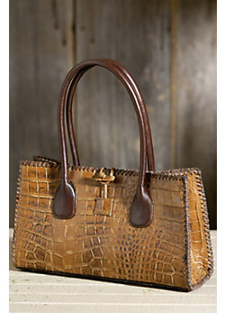 Overland Imperial Embossed Leather Handbag