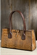 Embossed Italian Leather Handbag