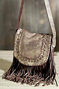 Women's Fringed Leather Shoulder Bag