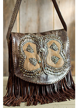 Women's Inlaid Springbok Leather Handbag
