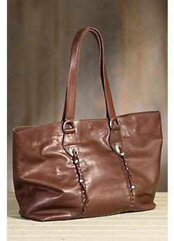 Overland Taos Italian Leather Tote Bag