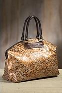 Overland Galena Tooled Leather Crossbody Handbag