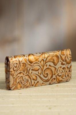 Overland Eden Tooled Leather Clutch Wallet