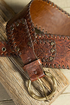 Overland Brandt Tooled Leather Belt