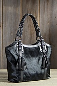 Women's Calfskin Leather Bucket Handbag