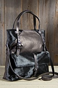 Women's Plonge Lambskin Leather Tote Bag