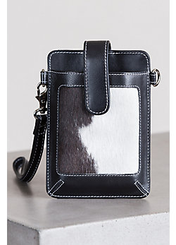 Lamar Cowhide Crossbody Phone Case Wallet
