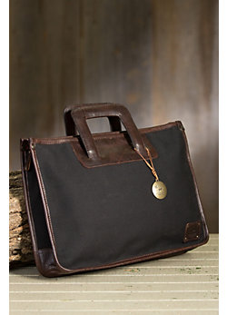 Will Eli Canvas and Leather Briefcase