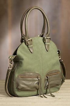 Overland Nicole Suede Crossbody Handbag