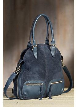 Overland Nicole Suede Handbag