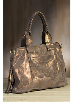 Overland Joel Shimmering Leather Crossbody Handbag