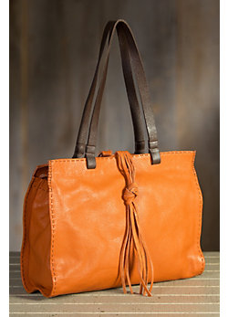 Overland Carmel Italian Vintage Leather Tote Bag