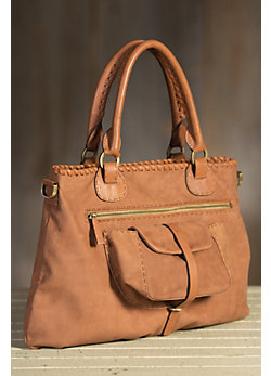 Overland Gisele Italian Leather Crossbody Handbag