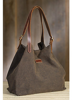 Overland Linn Canvas and Leather Tote Bag