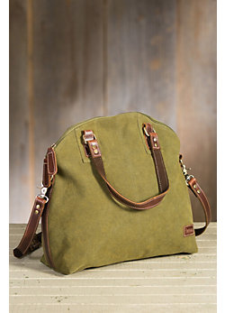 Overland Clayton Canvas and Leather Tote Bag