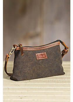 Overland Warren Canvas and Leather Crossbody Handbag