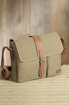 Overland Achilles Canvas and Leather Messenger Bag