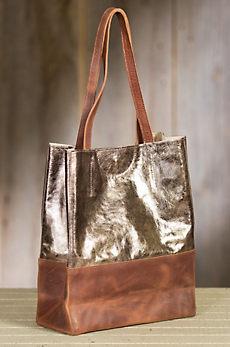 Saloso Calfskin Leather Tote Bag