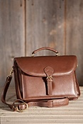 Executive Leather Briefcase with Shoulder Strap