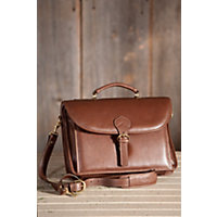Executive Leather Briefcase With Shoulder Strap Western & Country