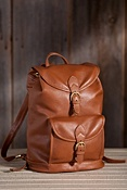 Women's Harrington Drawstring Leather Backpack