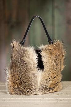 Quito Leather and Fur Crossbody Handbag