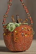 After Midnight Orange Pumpkin Mary Frances Designer Handbag