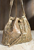 Light Footed Mary Frances Leather Handbag
